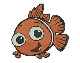 Baby Nemo Embroidery design - 4 sizes - 5 formats