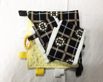 Bruins Blanket & Burp Cloths