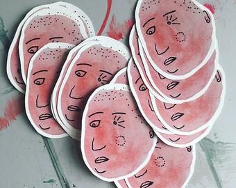 Pink Head Sticker