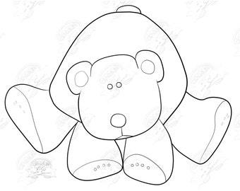 Polar Bear Line Art