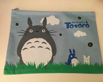 My Neighbor Totoro Big Lap Top Sleeve Stationary Storage Organizer Bag School Office Supply Planner Coin Purse Stationery purse ipad sleeve