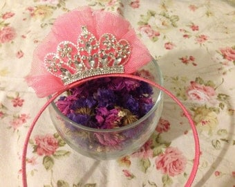 Pinky princess with little Crown no.1 headband