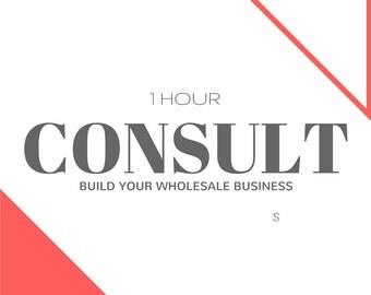 1 Hour Consult- Build Your Wholesale Business