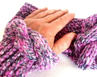 Wrist warmers, fingerless gloves, cable mittens