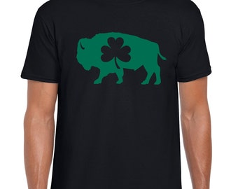 Buffalo Irish St. Patrick's Day Parade Bison T-Shirt Shamrock New York