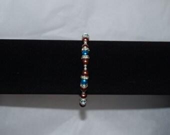 Brown and Blue Crystal Bracelet