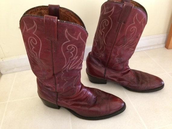 s size 12 vintage tony mora cowboy boots by