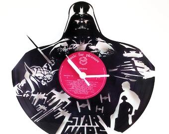 Star Wars  Vinyl Record Clock v. 2 - Star Wars. Vinyl Clock. Gift. Christmas. Movie. Birthday.