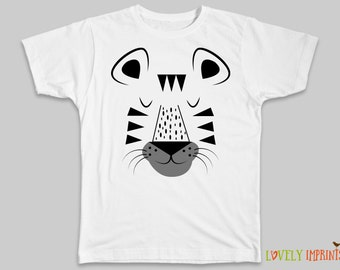 Tiger Shirt Boy Gift Zoo T Shirt Toddler Gift Birthday Gift Cute Tiger Top Girl Gift Hipster Kid Clothes Trendy Boy Unique Animal Outfit
