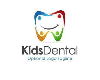 Tooth Logo, Premade Logo, Kid's Logo, Custom Logo Design, Dentist Logo, Dental Logo, Children's Logo, Logo Design, Branding, Logo
