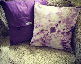 Handmade Purple Tie Dye Cushion Cover