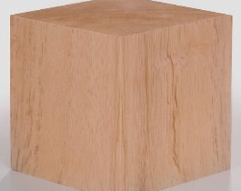 3.5 Inch Solid Wood Block Cube