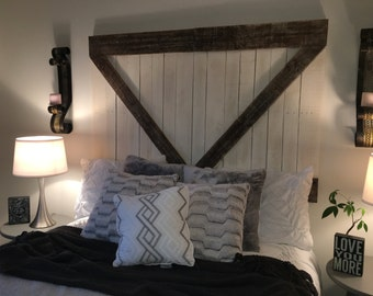 Headboard - Barn Door Headboard or Wall Art - The Haley -Free Shipping