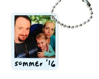 Custom Picture 3D Polaroid Memory KeyChain