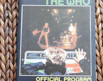 The Who Official Program 1982 Tour