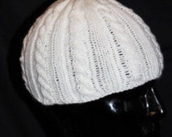DJ-style hat with braid pattern (Ben, DJ-Ötzi, Beanie)