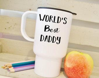 World's best daddy, travel mug, travel cup