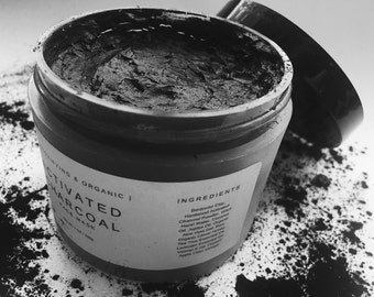 Activated Charcoal Facial Mask | ORGANIC | Detox Face Mask, Charcoal Face Mask, Pore Minimizer, Blackhead Mask, Facial Mask for Acne