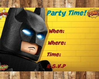 Lego Invitation Card with amazing invitations template