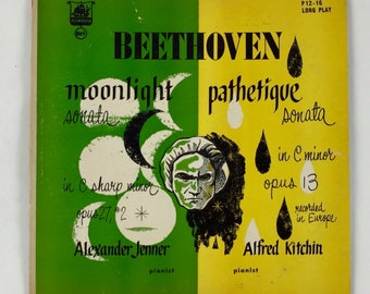 Vintage Vinyl Record / Vintage LP / Beethoven Moonlight Sonata And Pathetique Sonata / Plymouth Records P12-16 / Classical Music Record