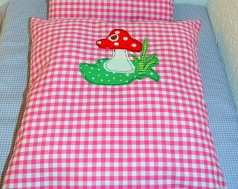 """Dolls bed linen """"lucky charm"""""""