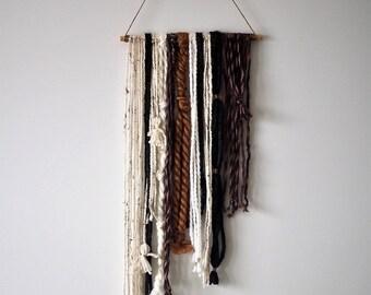 "Yarn Tapestry - ""Tassels, Knots, and Shag"" (Medium Size)"