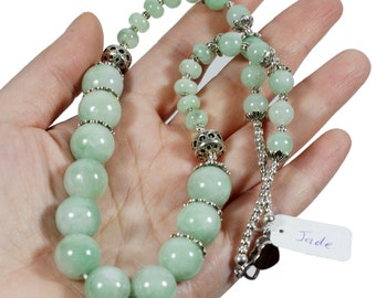 100% Natural Jade Bead Necklace