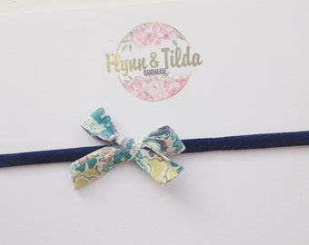 Baby liberty print bow headband