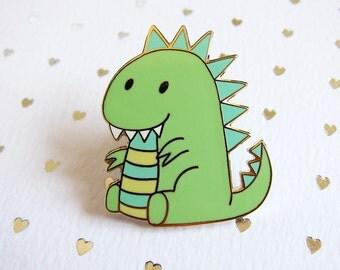 Moomii, the T-Rex dinosaur - Hard enamel pin - kawaii accessories, cute enamel pin, dino lapel pin, T-Rex enamel pin, Trex pin, pastel