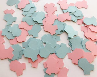 Blue and Pink Baby Confetti, Baby Party Confetti, Baby Shower, Birthday Confetti, Baby Boy Party, Baby Girl Party, Onesie table Decorations