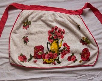 Vintage 1960s Towel Apron