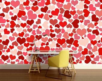 ABSTRACT WALL MURAL, hear wall mural, heart abstract wall mural, abstract mural, heart wallpaper, wallpaper, background, heart background