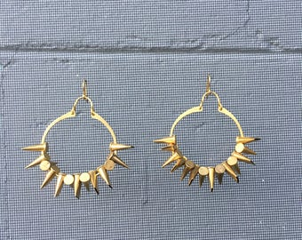Brass Bullet Hoop Earrings 22 Caliber Casings Bangin Jewelry
