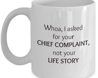 Funny coffee mug.  Humorous xmas gift for doctors, nurses & loved ones. Tea cup, novelty