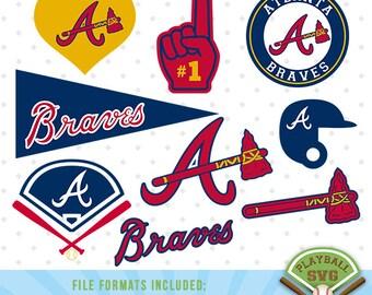 Atlanta Braves SVG files, baseball designs contains dxf, eps, svg, jpg, png and pdf files. PB-002