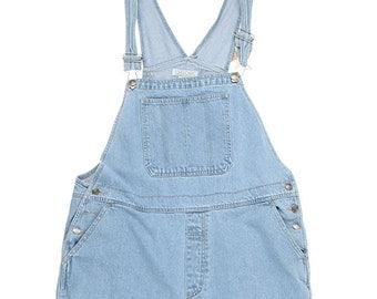 Salopette longue en jean, 90s / Blue Denim Long Dungarees 90s, W40