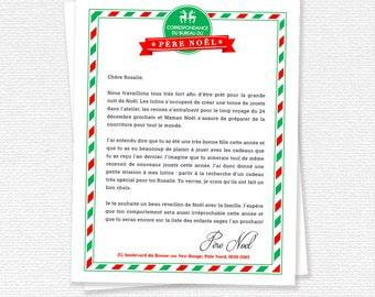 Lettre du Père Noël, Pôle Nord, Papier à lettre de Noël, Papeterie de Noël, Liste des enfants sages - À imprimer