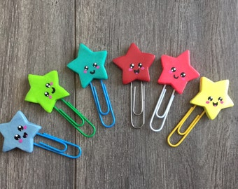 Mark bookmarks page stars kawaii in polymer clay
