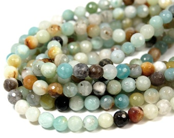 """Two 15.5"""" strands Amazonite Beads 6mm Faceted"""