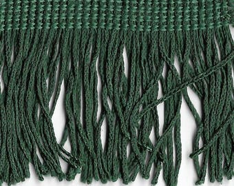 8 yards green chainette fringe 2""