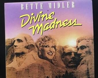 ON SALE Vintage 1988 Bette Midler Divine Madness Vinyl Record Excellent Condition