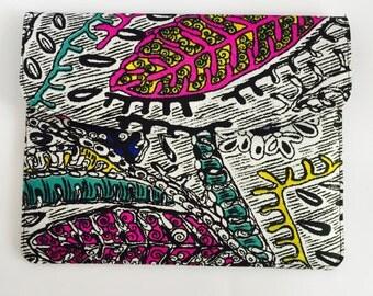 "13"" Ankara Doodle Laptop Sleeve // African Print"