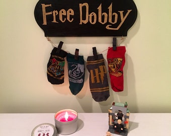 Harry Potter Free Dobby sock hanger