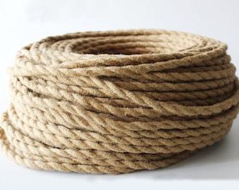 Lampara cuerda 1 bombilla 4 metros con polea por for Soga de canamo
