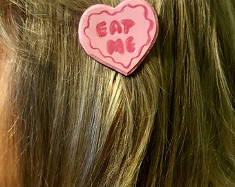 Leather Eat Me Cookie Hair Accessory