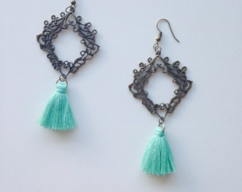 Tassel Earrings - the Garden of Life - Drop Earrings