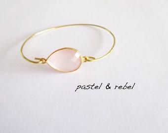 filigree rose quartz bracelet