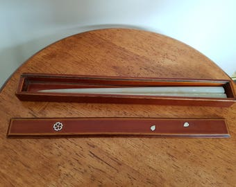 Pair of Japanese hair sticks, boxed