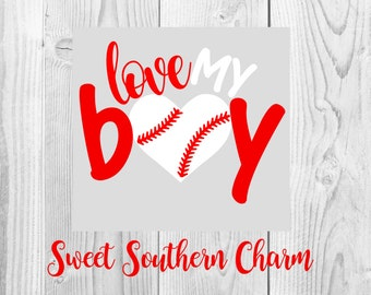 love my boy svg - baseball mom svg - mom svg - baseball svg - sports svg - svg file - svg files - mom cut file - baseball cut file - files