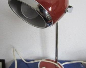 Vintage space age Herda orange ball desk lamp